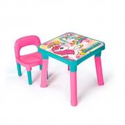Mesinha unicórnio com cadeira