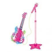 Microfone Com Pedestal E Guitarra Infantil Rock Show - Dmtoys