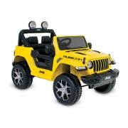 Mini Jeep Elétrico Wrangler Rubicon 12V Amarelo c/ Controle - Bandeirante