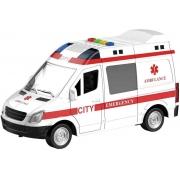 Mini Veículo Ambulância Resgate - Com Luz e Som - Shiny Toys