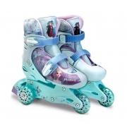 Patins Frozen 3 Rodas Ajustável 29 a 32 c/ acessorios - Fun