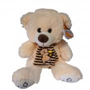 Pelúcia Urso BEGE com cachecol 35 cm - BBR 3068