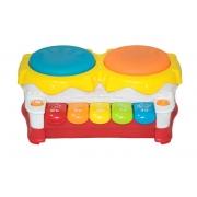 Piano Tambor Musical Infantil Brinquedo Educativo -  BBR 3000