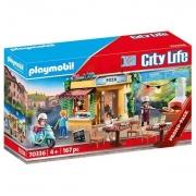 Playmobil City Life Pizzaria com Luz - Sunny
