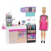 Playset e Boneca Barbie Quero ser - Cafeteria - Mattel
