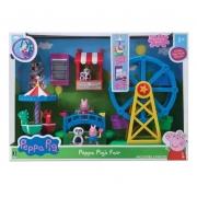 Playset e Mini Figura Parque de Diversões da Peppa Pig - Sunny