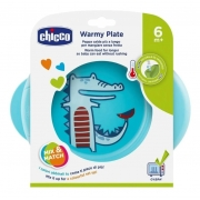 Prato Térmico Infantil Azul Jacarezinho - 6m+ - Chicco