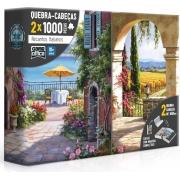 Quebra-cabeça 1000 2x Peças Recantos Italianos - Toyster