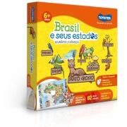 Quebra Cabeça Brasil e Seus Estados 82 Peças Toyster2771