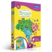Quebra-Cabeça Cartonado Mapa do Brasil 100 pçs - Toyster2063