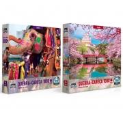 Quebra Cabeça Cores da Ásia 1.000 Peças - Toyster 2635