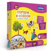 Quebra-Cabeça Grandão 120 Pçs - Campo e Cidade Trilíngue - Toyster 2783
