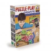 Quebra Cabeça Puzzle Play Gigante - Mapa Do Brasil - Grow