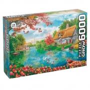 Quebra-Cabeça Puzzle Recanto das Flores - 6000 Peças - Grow