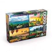 Quebra-Cabeça Puzzle - Vinhos do Mundo - 6000 peças - Grow