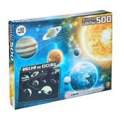 Quebra-Cabeça Sistema Solar Fluorescente 500 pçs - Grow