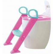 Redutor Assento Sanitário Infantil Escadinha Baby Style Rosa