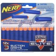 Refil Nerf Elite com 12 Dardos Sucção - Compatível com qualquer lançador N-Strike Elite - Hasbro 5334