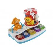 Teclado Animal Para Bebê Colorido Com Acessórios - BBR 2995