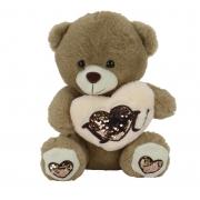 Urso de Pelúcia c/ Coração 30cm - BBR 3080