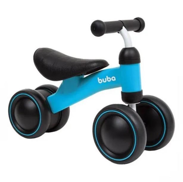 Bicicleta de Equilíbrio 4 Rodas para Bebê Azul - Buba