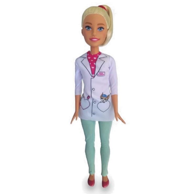 Boneca Barbie Veterinária - Pupee
