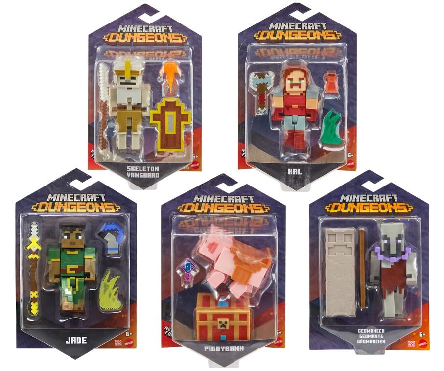 Boneco Minecraft Dungeons e Acessórios 8cm - Mattel