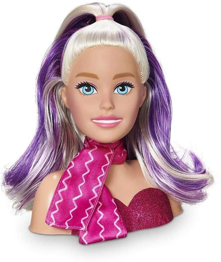 Busto Boneca Barbie Styling Head Faces, Pupee, Maquiagem e Cabelo