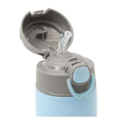 Garrafa Térmica Gumy 420ml Parede Dupla Inox Azul - Buba