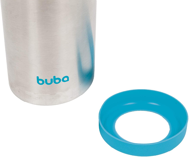 Garrafa Térmica Parede Dupla - 400ml - Azul - Buba