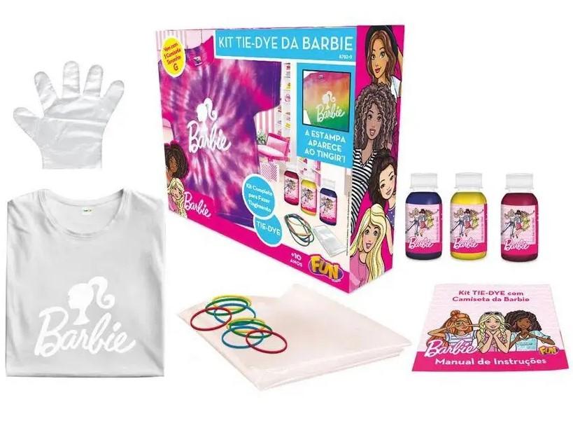 Kit Tie Dye da Barbie Com Camiseta Tamanho G - Fun