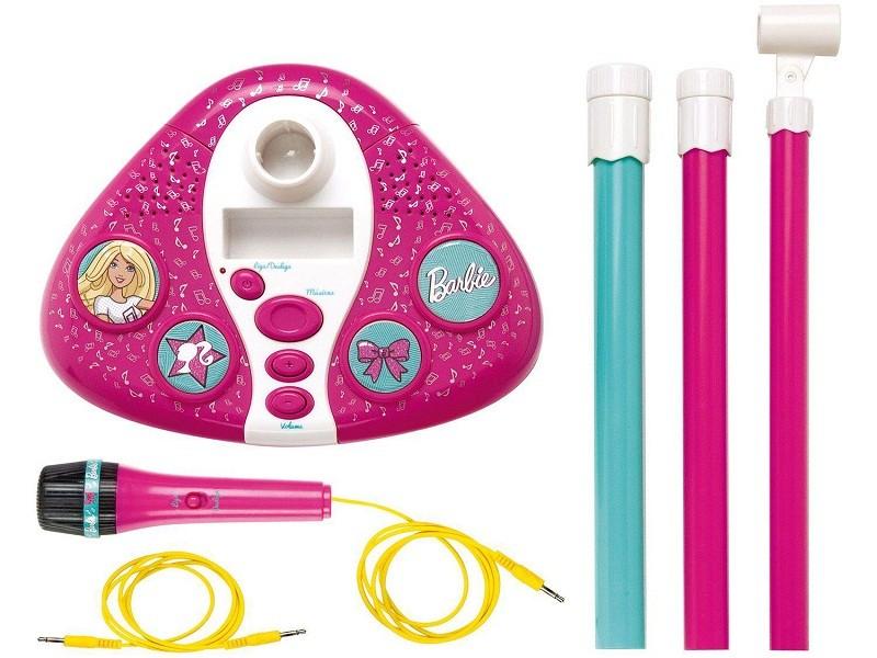 Microfone Infantil Barbie Fabuloso com Pedestal - Fun