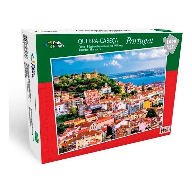 Quebra-Cabeça 1000 Peças - Portugal - Pais & Filhos