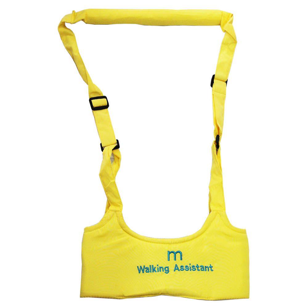 Andador Portátil Colete manual para Bebê Walking Assistant Amarelo
