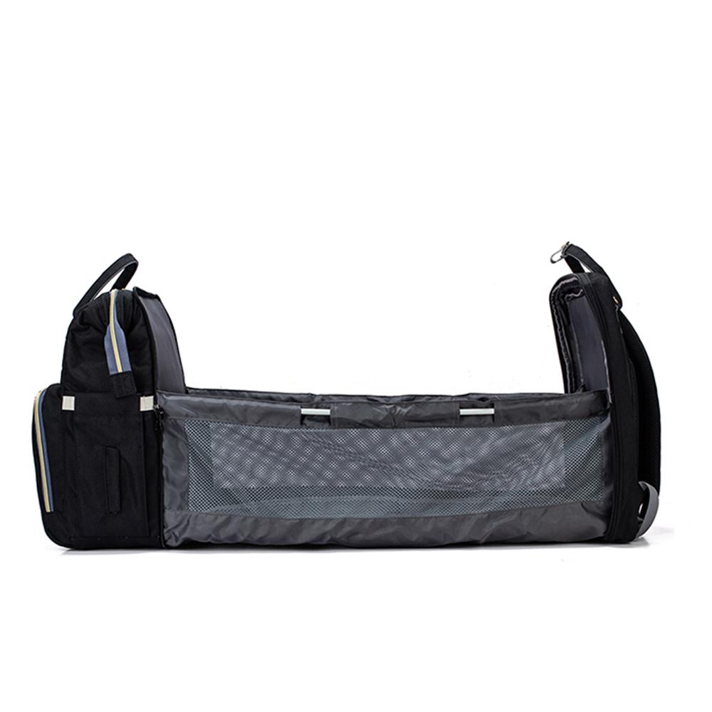 Berço Cama Portátil LandCrib para bebê dormir Dobrável Preto Mommy Bag