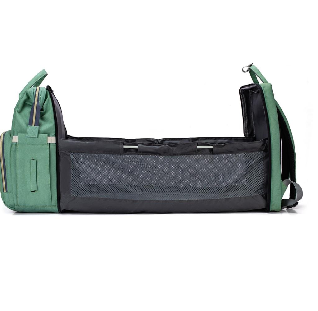 Berço Cama Portátil LandCrib para bebê dormir Dobrável Verde Mommy Bag