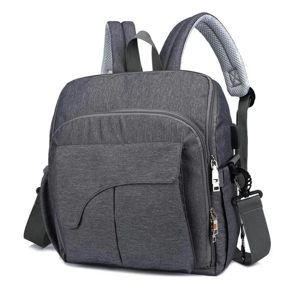 Bolsa Maternidade Mommy Bag Vira Cadeirinha 2 em 1 Chaise Com USB e Impermeável