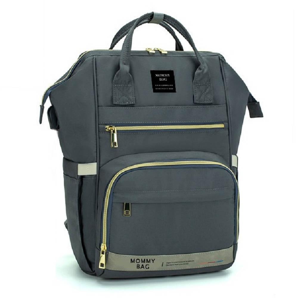 Bolsa/Mochila Maternidade Mommy Bag Com USB, Impermeável e Com Trocador Modelo Premium