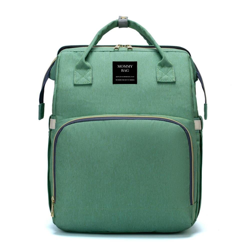 Bolsa/Mochila Maternidade Verde Mommy Bag Crib vira Cama 3 em 1 Linha Letto