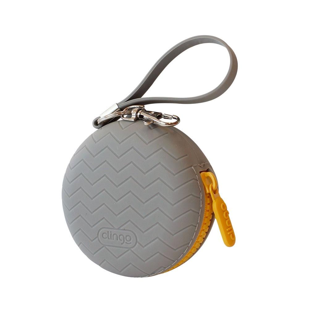 Porta Chupeta de Silicone Clingo Cinza