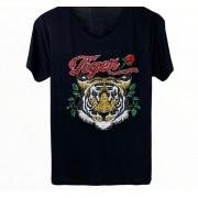 Camiseta Tiger Bordada Preta