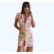 Camisola feminina estampa melancia malha fria