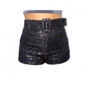 Shorts curto Paete preto cintura alta