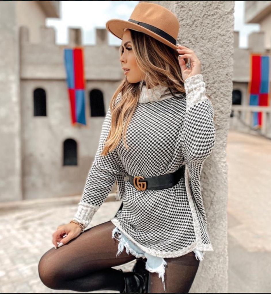Blusa Trico Ponche Mayara
