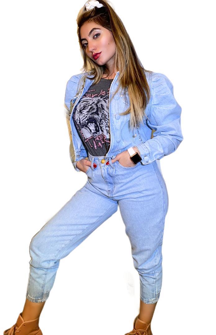 Calça Jeans Cintura Alta Mom
