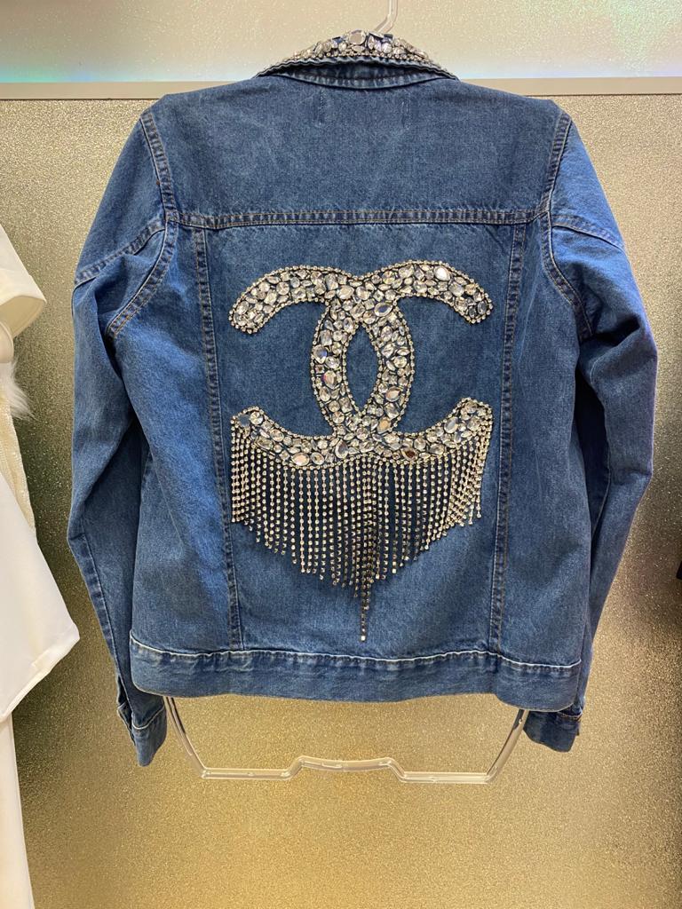 Jaqueta Jeans Bordada Chanel