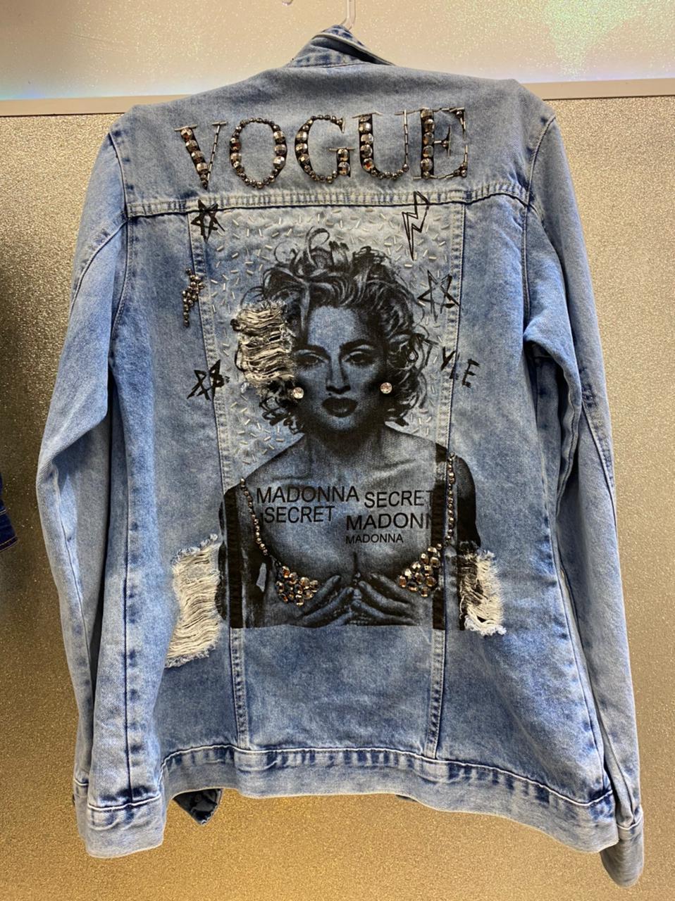 Jaqueta Jeans Madonna Bordada