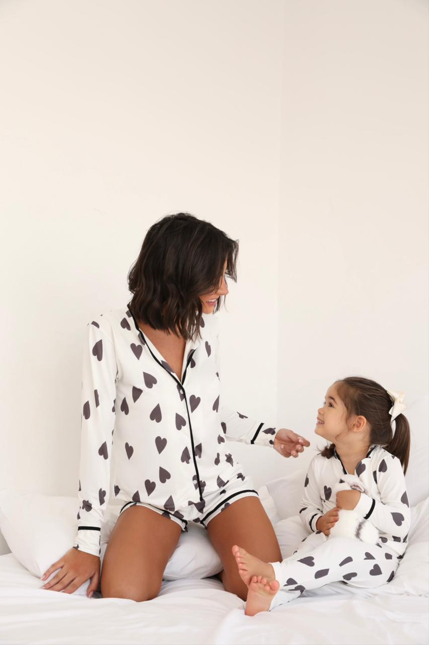 Pijama Adulto Coração