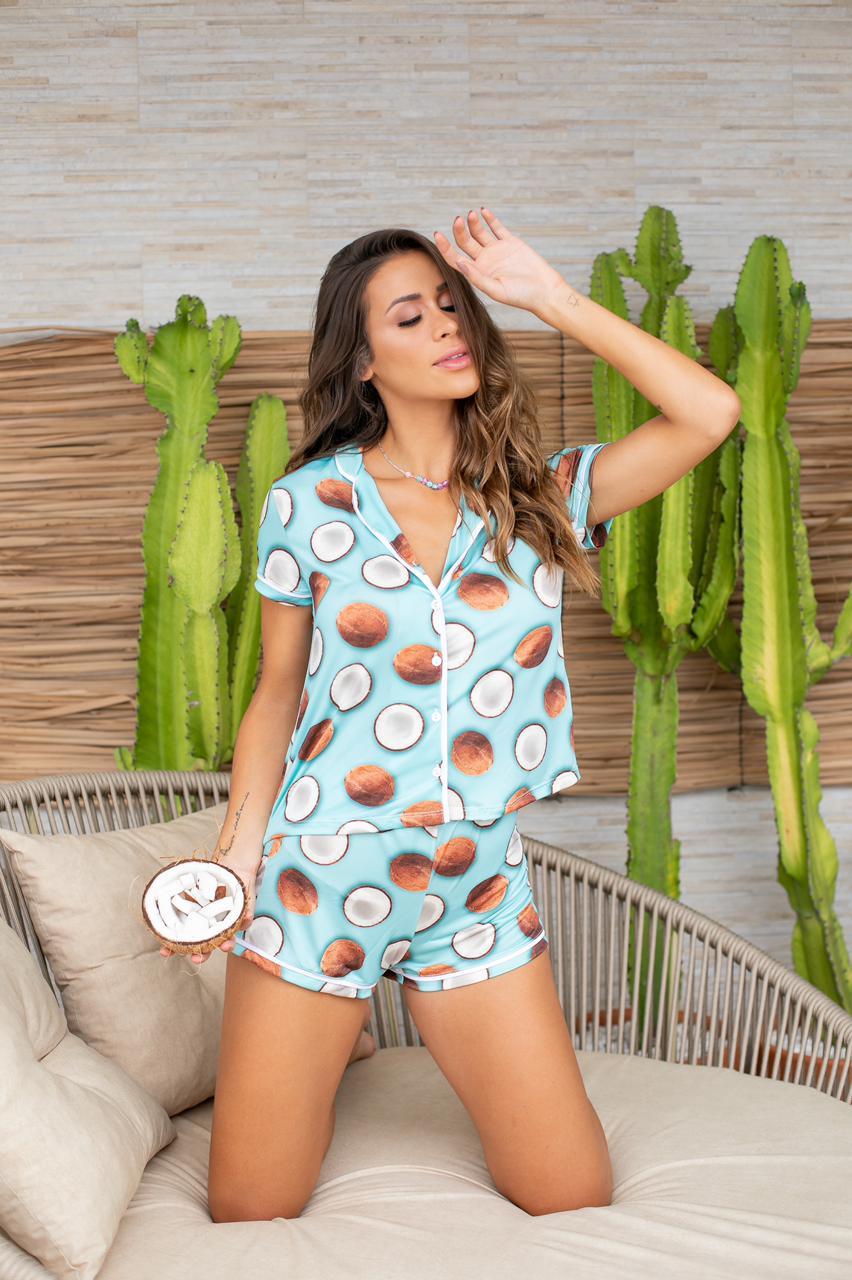 Pijama Baby Doll Coco Botões