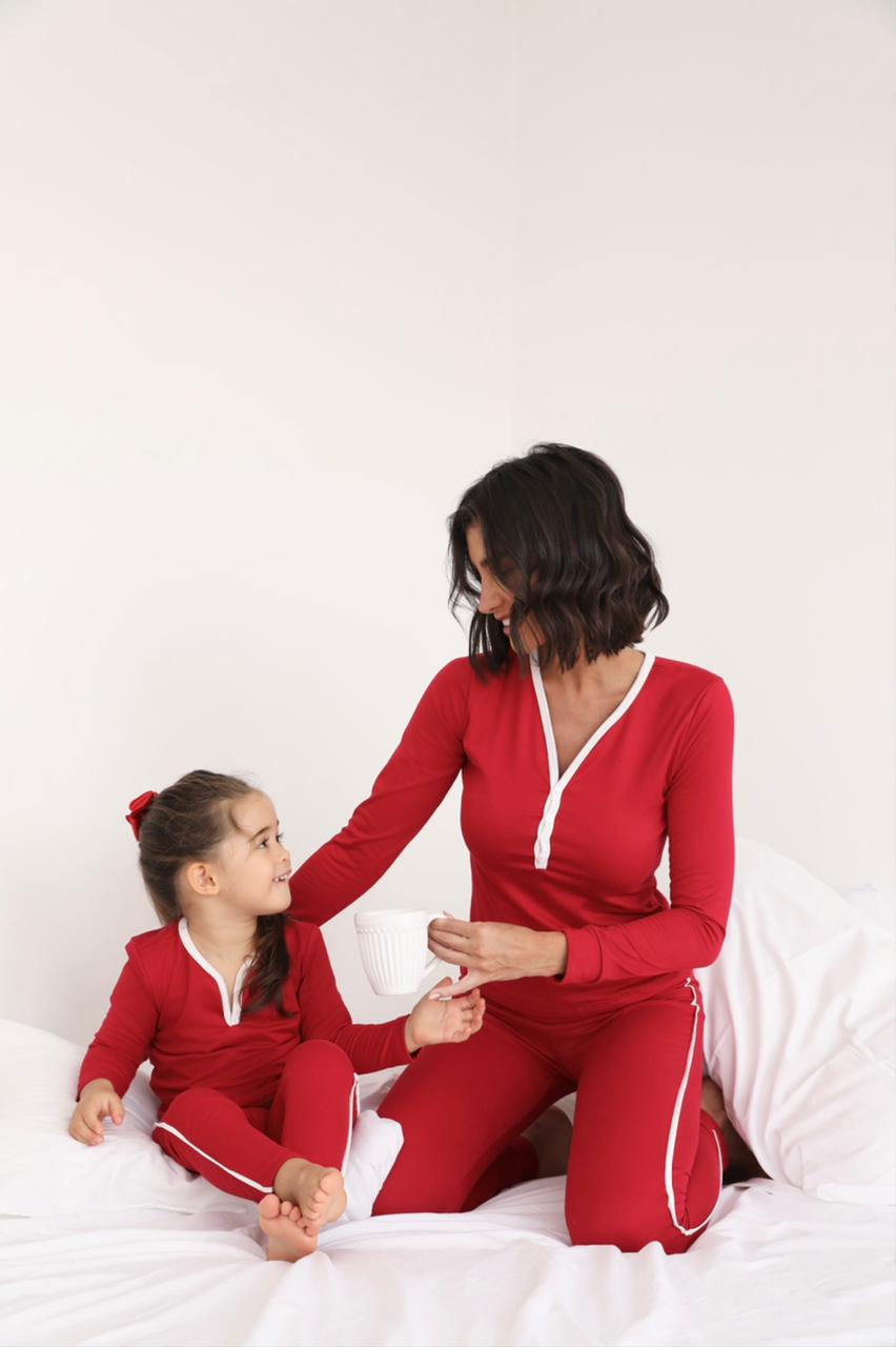 Pijama Infantil Peluciado Longo Roberta Cores
